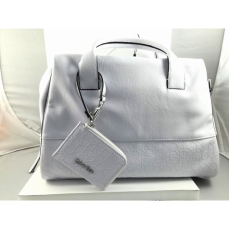 Borsa Calvin Klein bianca in Pelle