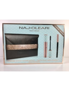 NAJ OLEARI Italian Beauty - Mascara+Matita Kajal Nero+Maxi Pochette