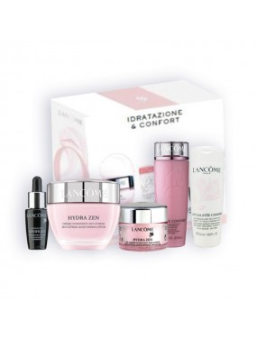 LANCOME - Confezione Hydra Zen + Galatée Confort + Tonique Confort + Advanced Genefique + Hydra Zen crema viso