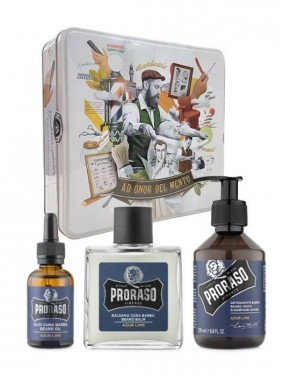 PRORASO Kit da Barba AZUR LIME