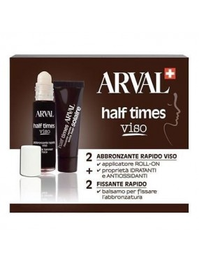 ARVAL HALF TIME VISO- Abbronzante rapido 2x10 ml + Fissante rapido 2x10 ml